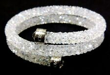 WHITE CRYSTALDUST DOUBLE BANGLE BRACELET MEDIUM 2016 SWAROVSKI JEWELRY #5237754