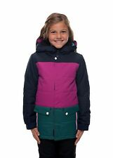 NWT 686 Girls Youth Lily Insulated Jacket Snowboard S Small 10K  Navy ac800