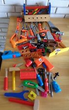 Lot of Toy Tools Black Decker Fisher Price Melissa Doug Bob Builder Disney +