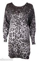 Ax Paris Brown or Grey Black Leopard Print Dress BNWT Free UK Ship Small Medium