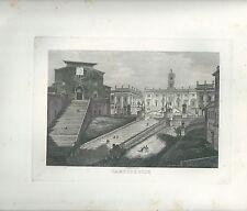 1848 ROMA CAMPIDOGLIO acquaforte su rame Cottafavi