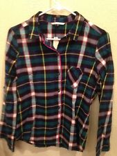 Victoria's Secret Green Navy Pink Plaid Pajama Set New with Tags X Large