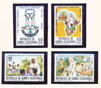 Equatorial Guinea Stamps Scott #85 To 88, Mint Never Hinged