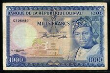 Mali 1960 ( 1967 ), 1000 Francs, G308989, P9, F-Vf