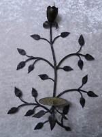 Candelabro Hierro Forjado Diseño Vintage Estilo Antiguo - Handgefertigt - Rosa