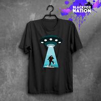 Bigfoot Alien Shirt Bigfoot T-Shirts Men Shirt Women Shirt Unisex Sizes UFO Tee