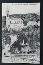 Postcard antique CPA HEAVY - Cave and Basilica