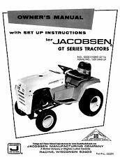Jacobsen GT Series Hydro tractor Operators Owners and Set Up Instructions Manual