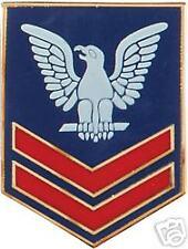 USN NAVY E- 5 PO2 RANK COLOR PIN