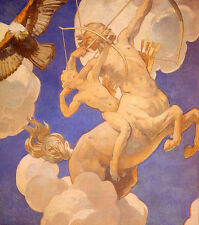 Dream-art Oil painting John Singer Sargent - Chiron and Achilles hand painted @