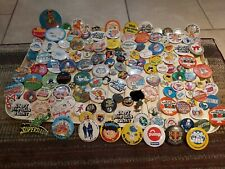 More details for job lot of 140+ - 70's 80's 90's badges, tin enamel - rare advertising/cartoon