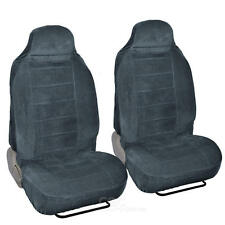 Front Seat Pair Covers Set Full Cover 2pc Driver Passenger Charcoal Encore