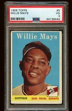 1958 WILLIE MAYS Topps #5 PSA grade 3 baseball card very good