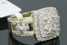 10K YELLOW GOLD 1.85 CARAT MENS REAL DIAMOND ENGAGEMENT WEDDING PINKY RING BAND