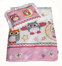 4 tlg. Set Bezug für Kinderwagen Garnitur Bettwäsche Decke + Kissen + Füllung