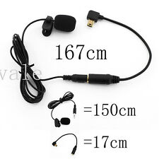 3.5mm External Microphone W/ Collar Clip Mic+Adapter Cable for GoPro Hero 4 3+ 3