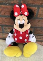 Walt Disney World Minnie Mouse Stuffed Animal Plush Toy Red Polka Dot Dress