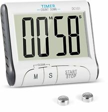 Timer da Cucina, Magnetico Digitale Elettronico, 24 Ore con Display LCD
