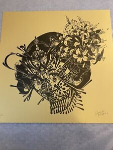"Stinkfish ""The Flower Girl 1949"" Gold Ed. Hand Embellished 1-Color Letterpress"