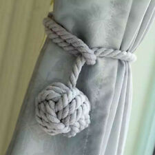 Curtain Rope Cord Loghot In Navy Blue Rural Cotton Tie Backs with Single Ball
