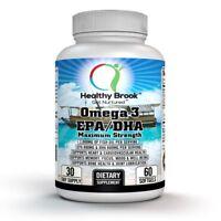 Healthy Brook Omega-3 Fish Oil 2000 mg EPA 800 mg DHA 600 mg 60 softgels HEART