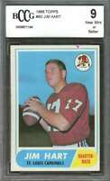 1968 topps #60 JIM HART st louis cardinals rookie card BGS BCCG 9
