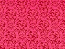 1:12 scale Dolls House Wallpaper Renaissance Red PP142