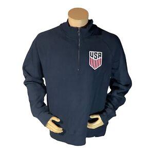 '47 Mens Team USA 1/4 zip blue soccer sweater size XL