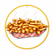 Fries Pommes USA Diner Fast Foot Bistro Werbung Retro Sign Blechschild Schild