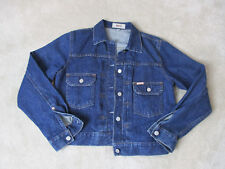 VINTAGE Guess Jeans USA Jean Jacket Womens Large Blue Denim Coat Ladies 90s