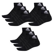 9 Par Adidas Rendimiento Zapatillas/Cuartos Calcetines Talla 35-54 Unisex Sock