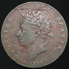 More details for 1827 | george iv half-penny | copper | coins | km coins