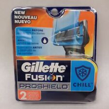 Gillette Fusion ProShield Chill Razor Refills 2 Cartridges New in Package