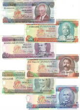 BARBADOS Set $2 $5 $10 $20 $50 $100 (1973-1994) P- VF-EF Banknotes Paper Money