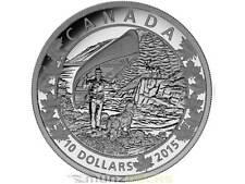 10$ DOLLARO Canoe CONVOGLIO CANADA Wondrous West Canada 2015 PP Argento