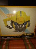 NEW IN BOX Hasbro Transformers Bumblebee 20 oz. Sculpted Ceramic Decorative Mug