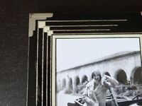 Mid Century Reverse Painted Glass Frame Art Deco Vintage Black Photo Retro