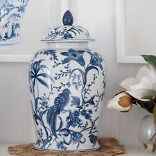 Florence Blue Birds Porcelain Ginger Jar 42cm(H) Hamptons Coastal Home Decor