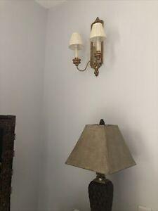Vaughan Lighting Granville Mirror-Back Wall Light Giltwood WL24