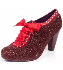 Poetic Licence By Irregular Choice 'Backlash' Burgundy Glitter High Heel Shoes