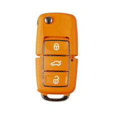 ORANGE VW / SKODA GOLF MK6 POLO CADDY BEETLE FABIA REMOTE KEY FOB CASE 3 BUTTONS