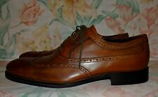 Men's Brown Leather JOHNSTON & MURPHY Oxfords Size 10.5 W GREAT Condition