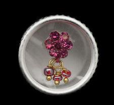 Bindi fleur strass vieux rose bijoux de peau front ht de gamme 13mm  ING F 2426