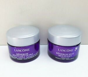 Lancome Renergie Multi Lift Ultra Day Cream + Night Cream Set, 15ml+15ml, New!