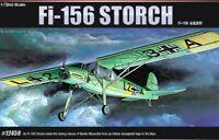 Academy 1/72 WW2 German Fi-156 Storch Military Plastic Scale Model Kit 12459