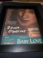 Joan Osborne Baby Love Rare Original Radio Promo Poster Ad Framed!