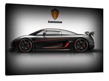 Koenigsegg Agera RS - 30x20 Inch Canvas - Framed Picture Print Wall Art