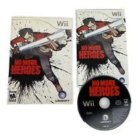 No More Heroes Nintendo Wii Complete CIB Manual Excellent Condition