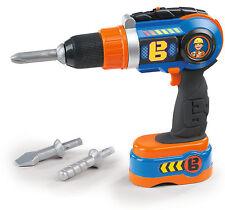 360130 Bob the Builder Electronic Cordless Drill inc x3 Bits Boys Tool Toy 3yrs+