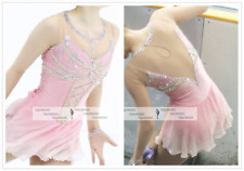 Pink Ice Figure Skating Dresses Custom Girl Competition Skating Dress Girls